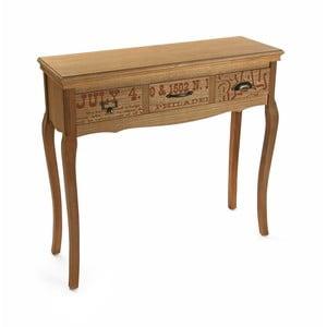 Dřevěný toaletní stolek se 3 šuplíky Versa Riano