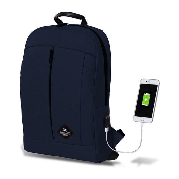 Tmavě modrý batoh s USB portem My Valice GALAXY Smart Bag