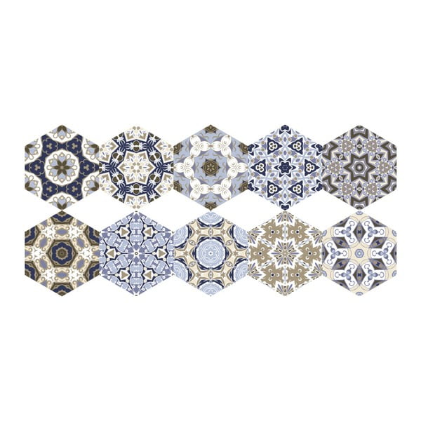 Set 10 autocolante impermeabile pentru podea Ambiance Jersey