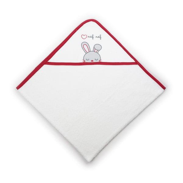 Dětská osuška ze 100% bavlny s kapucí Naf Naf Rabbit, 100x100cm