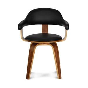 Otočná židle Suedoise Noire