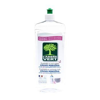 Detergent lichid și ecologic pentru spălarea vaselor L´Arbre Vert Sensitive, 2 x 750 ml imagine