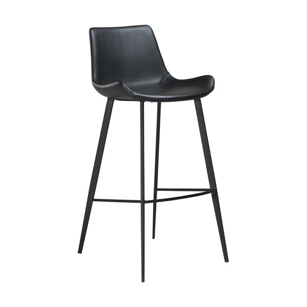 Černá barová židle z eko kůže DAN–FORM Denmark Hype