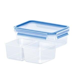 Box na uskladnění jídla Clip&Close + 2 přihrádky, 0.55 l