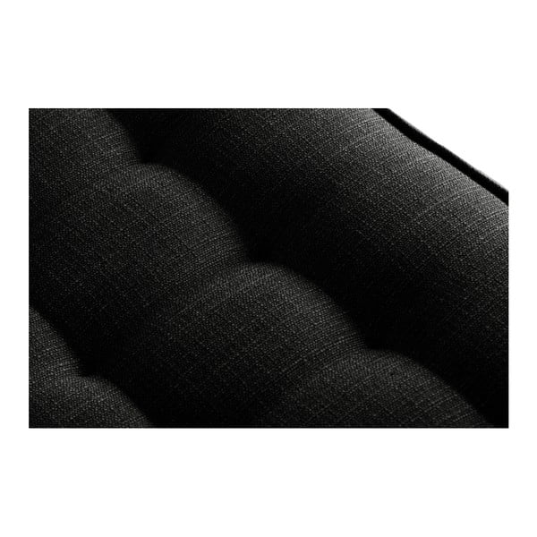 Černá rohová pohovka Stella Cadente Maison Atalaia, pravý roh