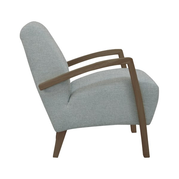 Světle šedé křeslo Windsor & Co Sofas Luna