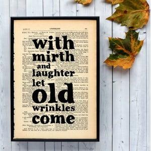 Plakát v dřevěném rámu Shakespeare Mirth and Laughter