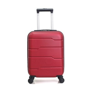 Červený cestovní kufr na kolečkách Hero Santiago,30l
