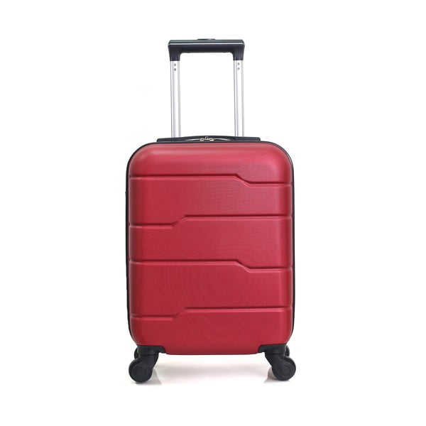 Červený cestovný kufor na kolieskach Hero Santiago, 30l