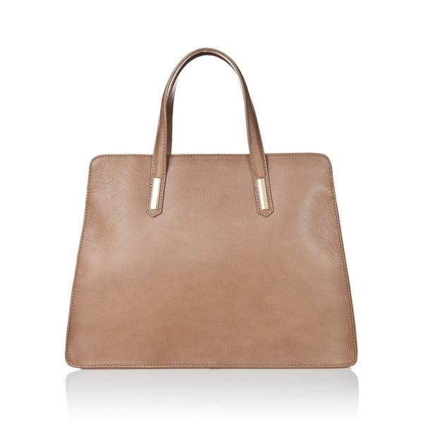 Hnědošedá kožená kabelka Markese Tasia