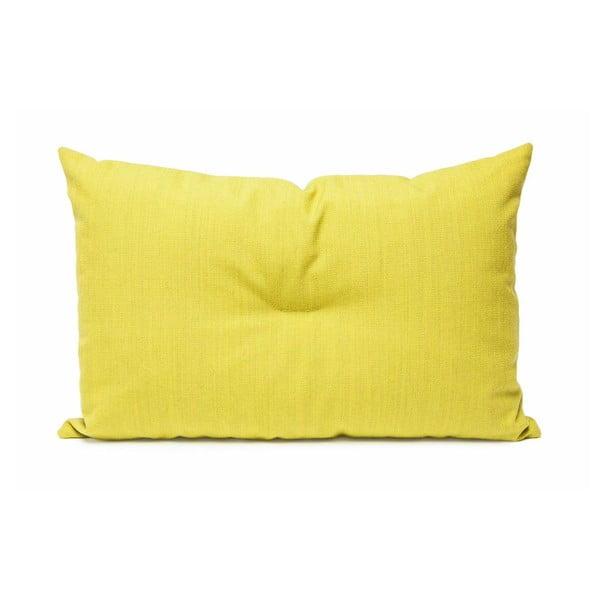 Vlněný polštář Crips, žlutý