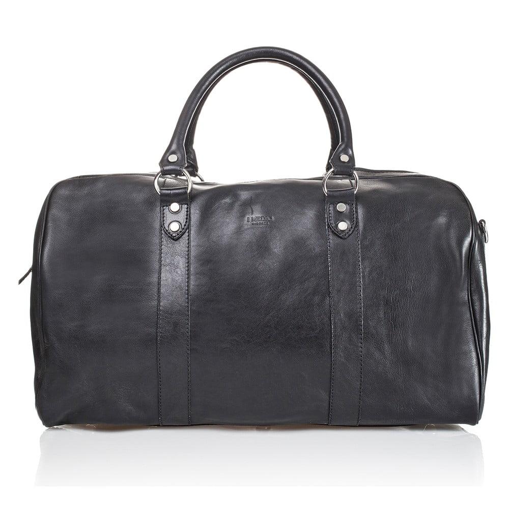 Černá kožená cestovní taška Medici of Florence Seconda
