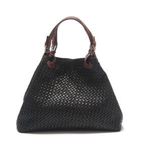 Černá kožená kabelka Isabella Rhea Illex
