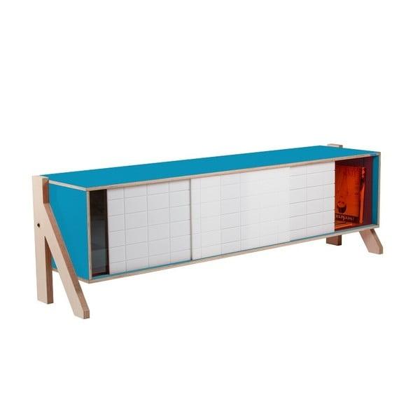 Modrá komoda rform Frame, délka 165 cm