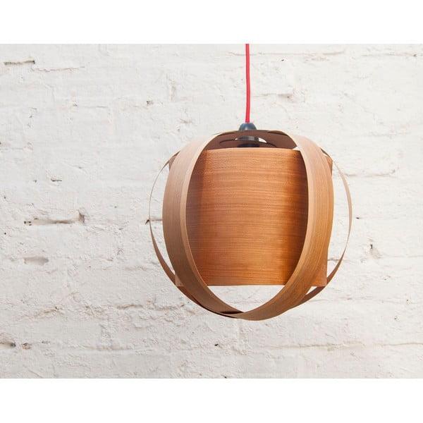 Ručně vyráběné světlo Drum, třešeň