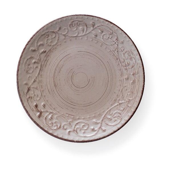 Pieskovohnedý kameninový tanier Brandani Serendipity, ⌀ 27,5 cm