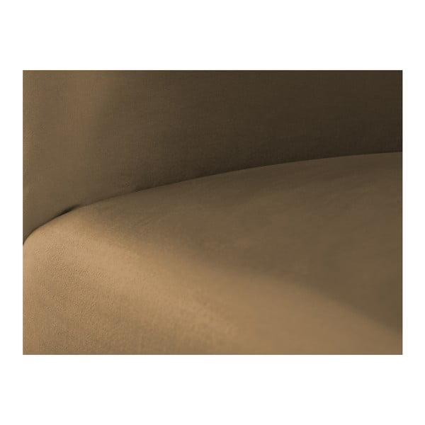 Tmavě hnědá modulová třímístná pohovka s lenoškou Norrsken Ebbe