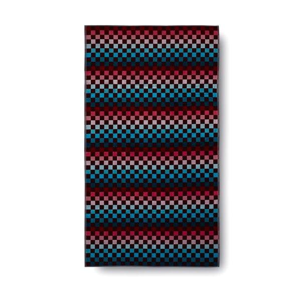 Červeno-modrá bavlněná osuška Casa Di Bassi Squares, 100x180cm