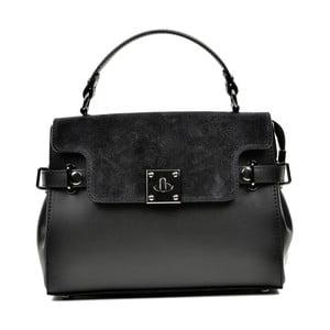 Černá kožená kabelka Carla Ferreri Monica Lento