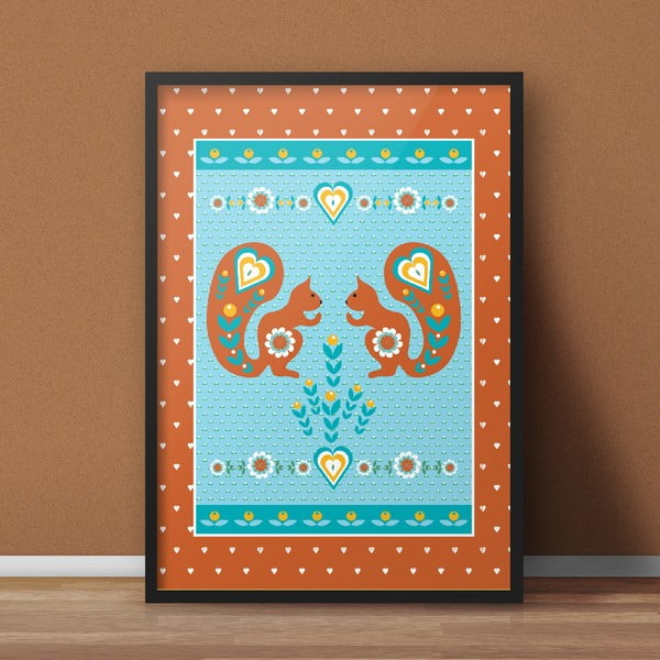 Plakát Veverky oranžová, střední