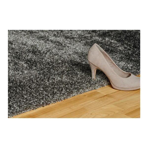 Tmavě šedý ručně vyráběný koberec Obsession My Touch Me Stone, 80 x 150 cm