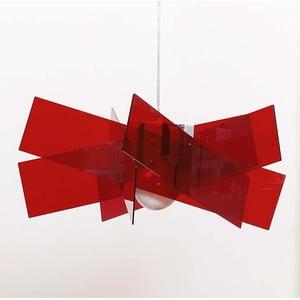 Závěsné stínidlo Kartika, červené