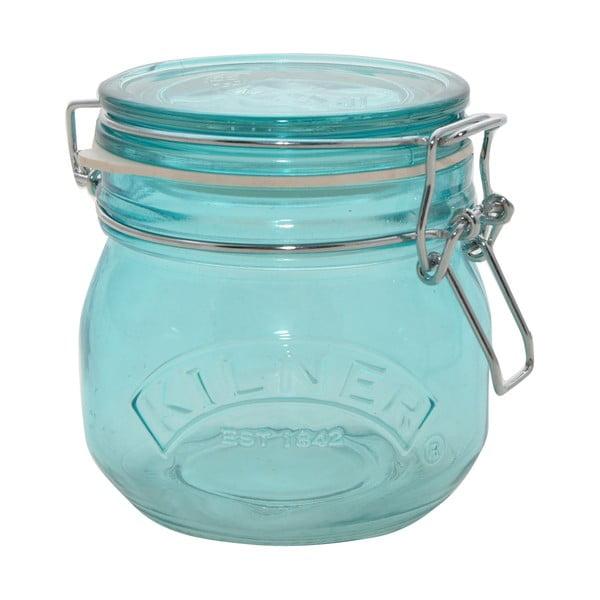Sklenice na suché potraviny s klipem Kilner, 0,5 l, modrá