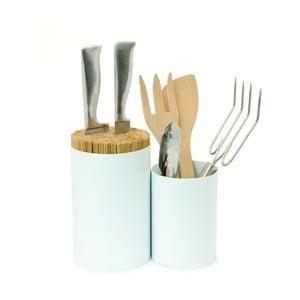 Bílý blok na nože a kuchyňské náčiní Wireworks Knife&Spoon