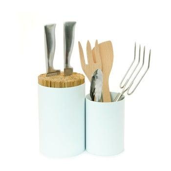 Suport pentru cuțite și pentru ustensile de bucătărie Wireworks Knife&Spoon White