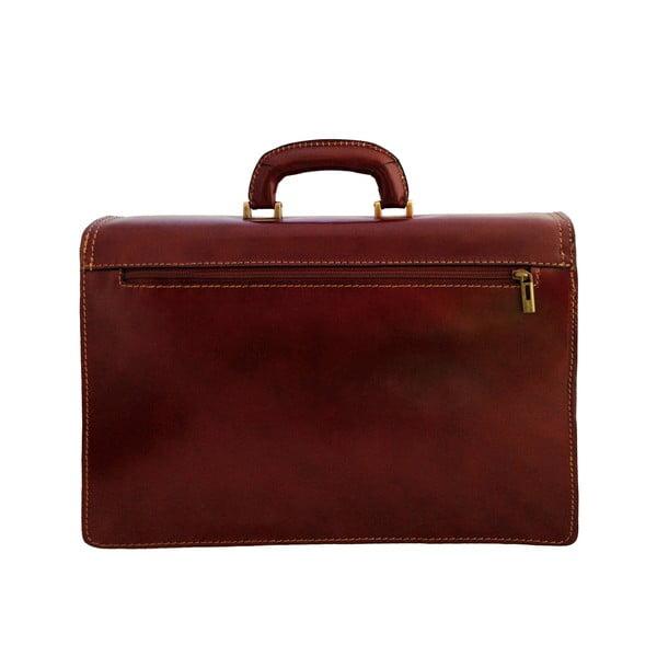 Kožený kufřík Passito, čokoládový