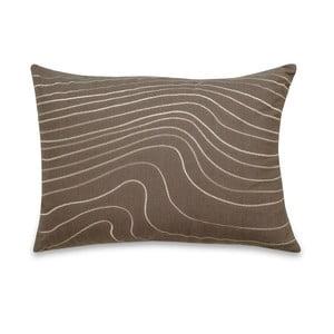Polštář Waves Taupe, 35x50 cm