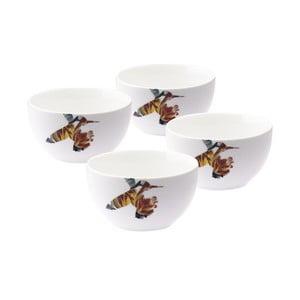 Sada 4 porcelánových misek Flutter, 12 cm