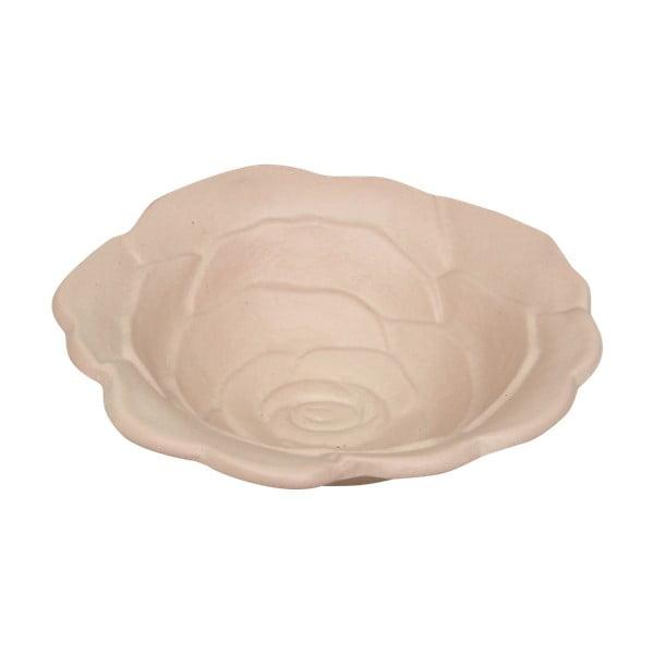 Růžová miska z keramiky Strömshaga, Ø 19 cm