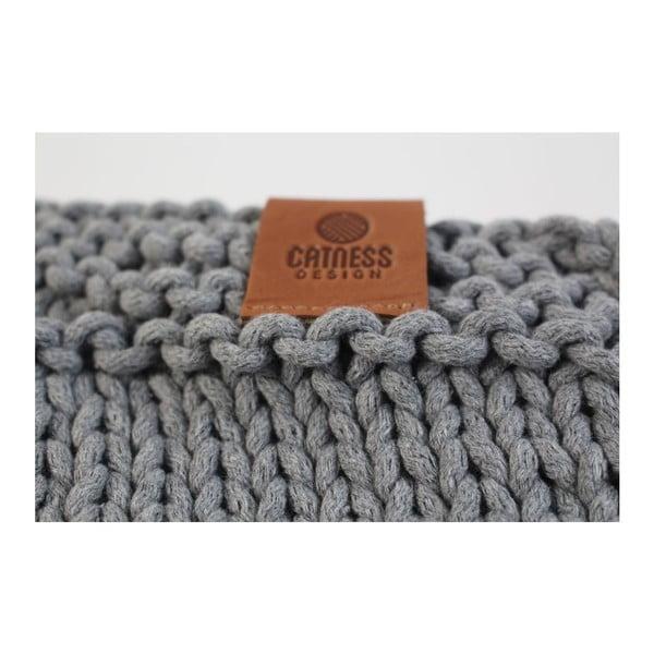 Pletená kabelka Catness, tmavě šedá, 35x38 cm