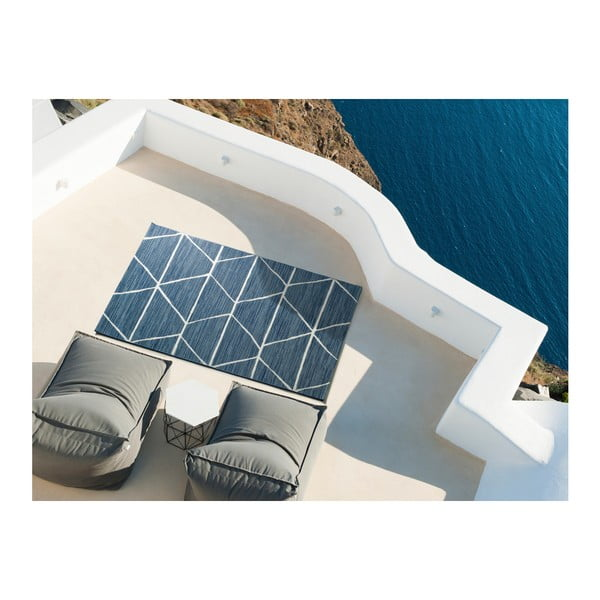 Modrý koberec Universal Azul Elba, 80x150cm