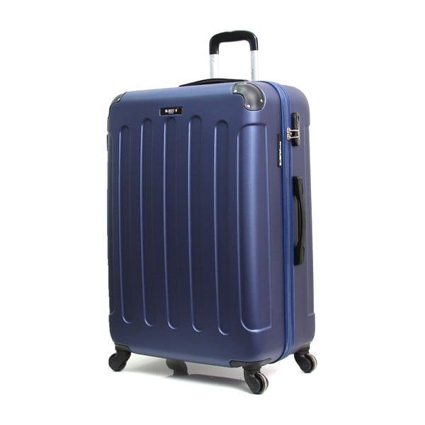 Tmavě modrý cestovní kufr na kolečkách Bluestar, 32 l