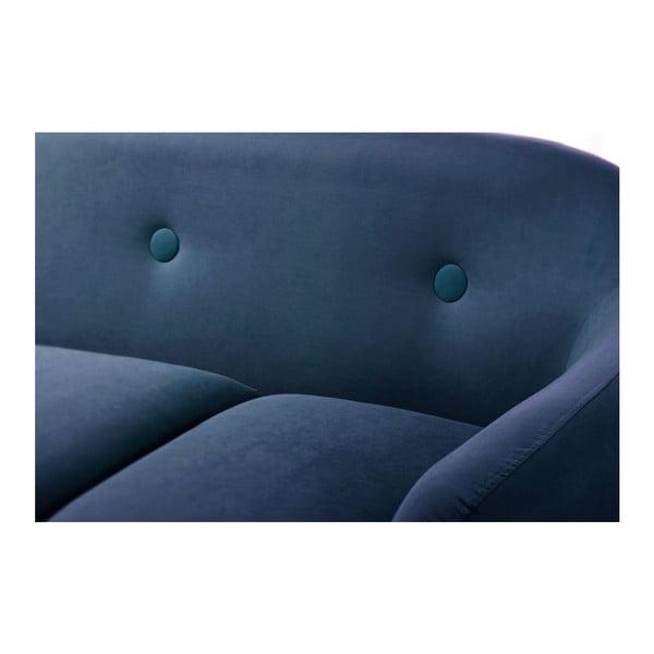 Namořnicky modrá trojmístná pohovka Scandi by Stella Cadente Maison , levý rohMaison