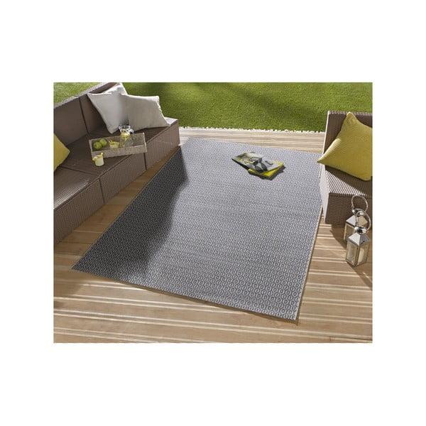 Modrý koberec vhodný i na ven Hanse Home Meadow, 140x200cm