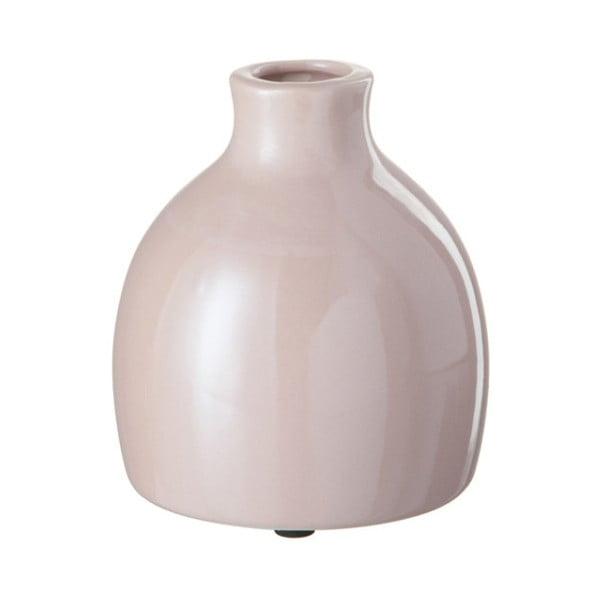 Růžová kameninová váza J-Line, 12x12x13 cm