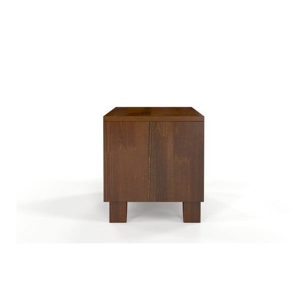 Noptieră din lemn masiv de pin SKANDICA Viveca Dark