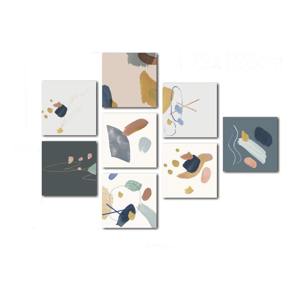 Sada skleněných obrazů Insigne Pastel
