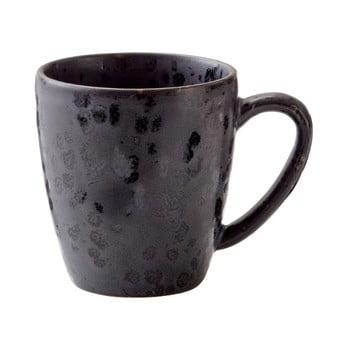 Cană din gresie ceramică Bitz Basics Black, 190 ml, negru