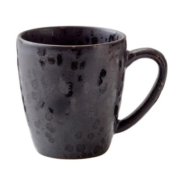 Černý kameninový hrnek s ouškem Bitz Basics Black, 190 ml