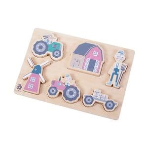 Dětské dřevěné puzzle Sebra Farm Boy