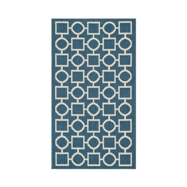 Modrobéžový koberec vhodný i na ven Safavieh Capri, 60x109cm