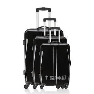 Sada 3 kufrů Integre Black/White, 114 l/75 l/46 l