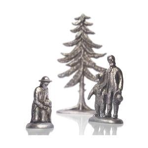 Skupina patinovaných postaviček u lesa k betlému Rýgr
