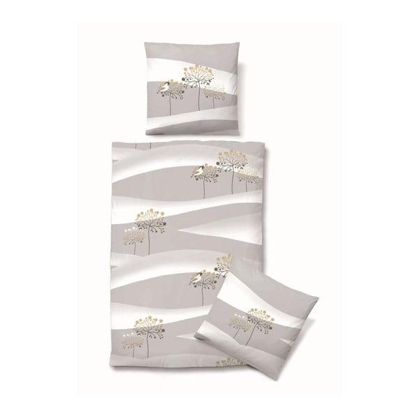 Povlečení Biber Komfort Autumn Grey, 135x200 cm