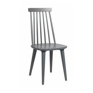 Tmavě šedá dubová židle Folke Nymph