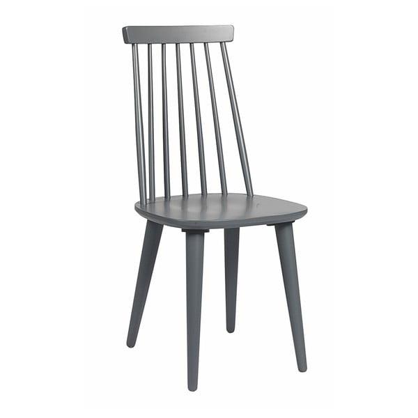 Šedá jídelní židle ze dřeva kaučukovníku Rowico Lotta